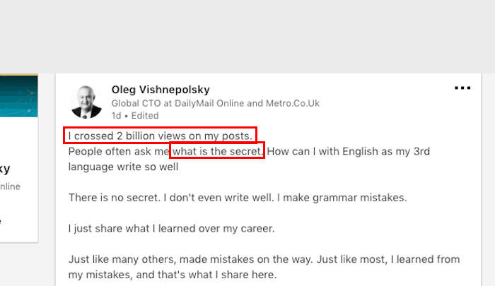 Data Analytics unravels the secret of Oleg's popularity on LinkedIn